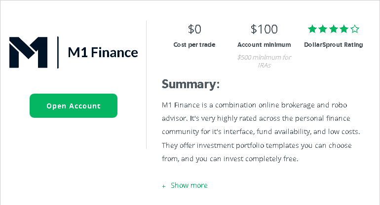 M1 Finance summary